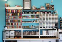 craft room / by Casey Lewis Cox