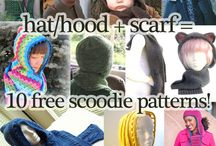 Crochet Hats, Scarfs, Mittens, Gloves, Arm and Wrist Warmer, Leggins, Booties and Slippers / by Tracy LG