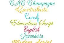 fonts / by Kathy Breckenridge