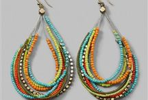 Beaded Earrings / by Mahalakshmi Shankar