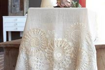 """Doilies, Linens, Lace, and Handwork / Clever ideas, one-of-a-kind, beautiful pieces to admire and stimulate the imagination.        NOTE:  I have to admit this board is """"out-of-hand"""" and I'll have to seperate the different ideas and items, eventually! / by Jacky Christian"""
