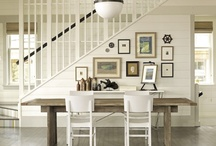 Dining Room Ideas  / Dining room decor, place settings, center pieces, and seating.  / by Army Wife to Suburban Life