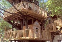 yard/treehouse / by Mary Romney