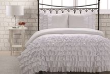 White Bedding Sets / White bedding sets for a white bedroom.  Stay clean my friends!  / by Lesley Stevens