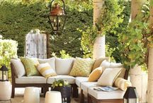 Outdoor Spaces / Outdoor spaces, porches, gardens, decks, landscaping, patios, swimming pools etc / by Carly @ Hunted Home