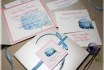 custom wedding invitations / Custom handmade and hand painted wedding and birthday invitations by Michelle Mospens. / by michelle mospens