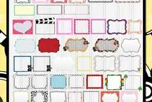 fonts,frames, and clipart / by Delena Allen