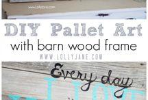 pallet/barn wood / by Steph Buchert