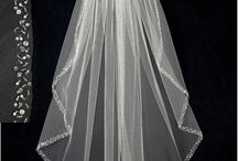 Waist Length Bridal Veils / Waist length bridal veils available from Cassandra Lynne. Choose from beaded, lace or simple wedding veils. / by Cassandra Lynne