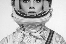 Astronaut. Space. Spaceart. Cosmic. Space Craft. / #astronaut #girls #helmet #space #universe #rocket #spaceship #stars #art #photo #design #nasa #futurism #future #photo #posters #galaxy  / by Yan L