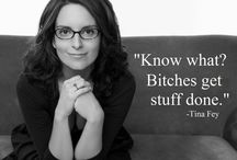 Actress, comedian: Tina Fey / by Ronald Laloli