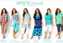 Spring Trends 2014 / A peek at our most coveted collections for spring: Spring in the Mix, Blue Point of View, Sheer Beauty, Best Dressed, Actively Ever After, and For the Love of Comfort.   All designed to fit and flatter the plus size woman.  / by Catherines Plus