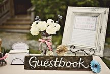 Guest Book Ideas / You can choose a book, a wooden bench, or whatever you like.   / by Creative Flowers Inc | Petal and Bean