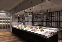 Render Pescaderia. / Renders interiores realizados para el estudio ABC arquitectos / by AB positivo 3D