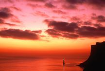 Scene with lighthouse / by Aki Kanamori