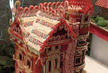 Gingerbread Houses / Mostly gingerbread houses. But there are some other food and holiday related buildings.  / by Lisa Gniech