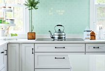 ...Kitchens: White Cabinets / by Sandra Smith