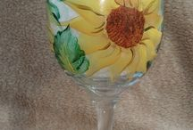 Wine bottle and glass Painting / by Tammy Hoffert