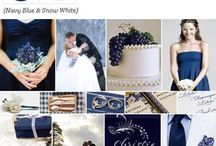 Dark blue and red winter wedding / Lace, vintage, romantic, a touch of Christmas/ winter feel  Touches of silver  / by Monica