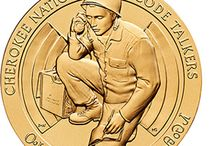 Native American Code Talkers Bronze Medals / The Code Talkers Recognition Act of 2008 authorized the United States Mint to strike and issue medals to provide the recognition deserved by Native American Code Talkers for their dedication and valor in World Wars I and II. The heroic and dramatic contributions of Native American Code Talkers were instrumental in driving back Axis forces and securing the United States' victories. / by United States Mint