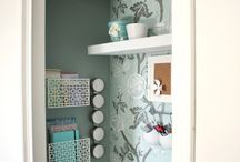 Office in a closet / by Katie McCorkle Shank