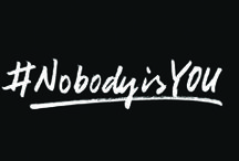 """#NobodyisYOU / Often we become an 'IMITATION' when we should embrace the fact that we are an 'ORIGINAL.'"""" Join the movement today!  / by Just For Kix"""