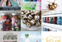 Craft Room Organization / Ideas and inspiration for organising my craft room. Craft supplies storage ideas. / by Narelle {Cook Clean Craft}