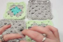 crochet / how to connect granny squares / by Betsy Daspit
