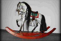 Antique Rocking Horse / Glider Horse  / by Susan Swaim