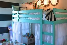 Cozy Dozy Sleeping Space / For the kid's shared bedroom / by Missy Larson-Sarginson