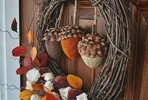 fall wreaths / by Sandra Triplett