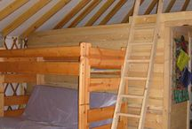 Yurt Loft ideas / Larger yurts can have a freestanding loft area for sleeping, storage, reading... whatever. Here's some examples and ideas. / by Colorado Yurt Company