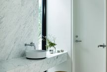 5 light, bright bathrooms / 5 bathrooms inspired by Cambria's Snowdon White / by FLOFORM