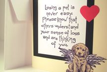 Cards Sympathy Pets / by Joan Tallent