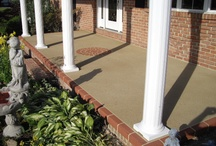 Stamped Concrete front porch / by Christine Benedict