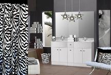 Zebra Bathroom / Exotic Zebra Bathware... / by Anything Animals  Decor N Linens