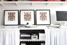 Office designs / by Karen 'Axe' Thomas