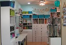 My Craftroom inspiration / In the process of designing my own scrapbook/craft room...these rooms are so amazing with inspirational ideas on organization and style / by Jessica Walsh