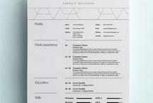 Graphic Design - Resumes / by ute