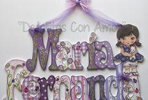 letras y nombres / by Mary Miranda