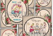 Printables - vintage. / Many printables of vintage graphics. See also other boards - Papercrafts, and Printables for crafts/scrapping. / by Jenni Jordan