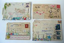 Fabric postcards / by Sandy Wakefield