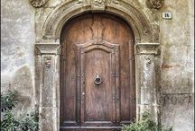 """Doors / They greet us, they protect and make us secure and yet are rarely thought of..........here's to the all important """"door"""". / by Antique Iron Beds by Cathouse Beds"""