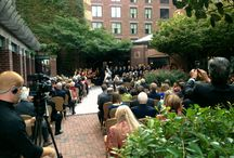 COURTYARD Ceremonies / Outdoor space does exist in DC! Starting in 2012, we have been thrilled to conduct outdoor ceremonies in our Front Courtyard for parties of up to 160 guests. As an additional option, hosts may choose to continue their celebration outside for cocktails, or bring the party inside the remainder of the evening. / by Four Seasons Hotel Washington, DC