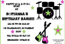 Rock Star party ideas / by BellaGrey Designs