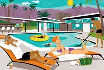 Vintage Palm Springs Print / Posters / by Kevin Taylor