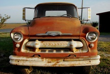 old trucks and cars / by tyler hill