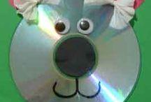 CDs Crafts  / by Kids Crafts Zone. Shirley Rebollo
