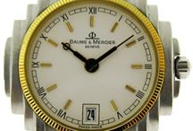 """Pre-owned Baume & Mercier / Baume & Mercier enjoys international recognition and is the seventh oldest Swiss watchmaking brand. Baume & Mercier, a family saga, has been making its mark on watchmaking history since its inception. We are committed to perpetuating this heritage and continuing to pass down this know-how to future generations. """"Accept only perfection, only manufacture watches of the highest quality"""" / by Manfredi Jewels"""