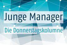 "Junge Manager - Die Donnerstagskolumne / Kolumne ""Junge Manager"" / by unternehmer_de"
